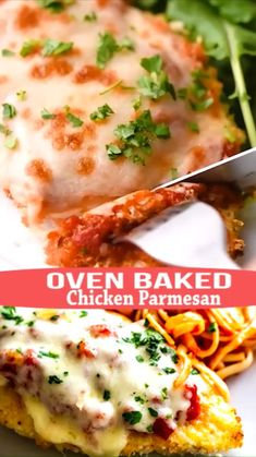 Oven Baked Chicken Parmesan, Baked Chicken Recipes, Chicken Thigh Recipes Oven, Easy Healthy Chicken Recipes, Chicken Tenderloin Recipes, Pasta, Dinner Recipes, Dinner Ideas, Casserole Recipes