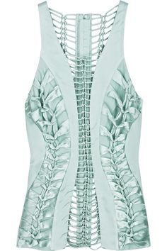 green-laced-silk-satin-cutout-top/ this shirt is awesome