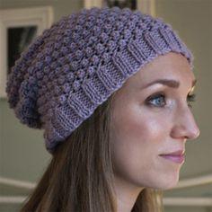 Debbie Bliss Blackberry Beanie knit in Cashmerino Aran #freepattern #knitting