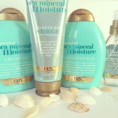 Sea Minerals shampoo and conditioner-- Leaves hair very clean, but still soft and extremely shiny. Smells like the beach/sea. Love it. Wanna try this!