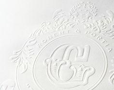 #Room13 #crest #wedding #invitation #design #emboss