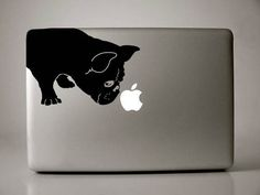 Französische Bulldogge schnüffelt Decal Macbook von IvyBee auf Etsy