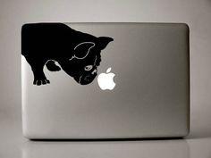 French Bulldog Sniffs Decal Macbook Apple Laptop