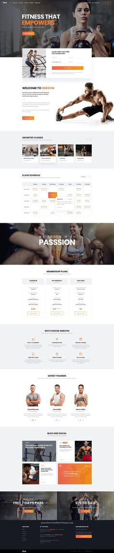 Onne is clean and modern design multipurpose PSD template for #gym and #fitness centers website with 21+ niche homepage layouts and 54 layered PSD files to live preview & download click on Visit #psdtemplates
