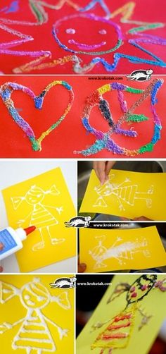 SALT and PVA GLUE Paintings by dina