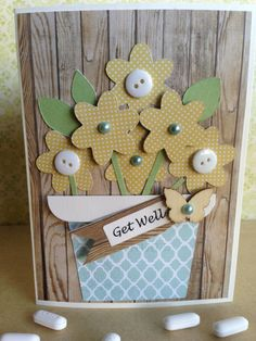 In Bloom Collection Handmade Get Well card by TartsPaperDesigns, $3.50