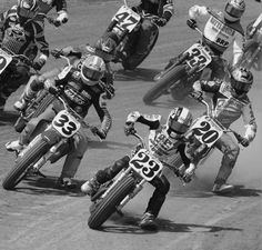 Dirt track old skool Flat Track Motorcycle, Flat Track Racing, Tracker Motorcycle, American Motorcycles, Racing Motorcycles, Vintage Motorcycles, Motocross, Grand National, Dirtbikes