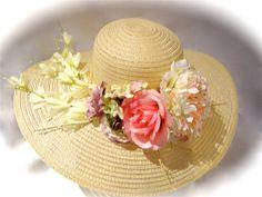 Garden Kentucky Derby Hat Floral Spring Hat by Marcellefinery, $48.00