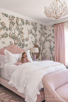 Parcell Home x Alice Lane Interior Design Isla Rose's Bedroom + Bathroom Rose Bedroom, Room Decor Bedroom, Bedroom Ideas, Nursery Room, White Bedroom, Big Girl Bedrooms, Little Girl Rooms, Small Bedrooms, Master Bedrooms