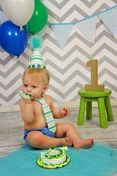 Birthday Outfit Shades of Blue with by LittleGuyTiesandMore, $32.00