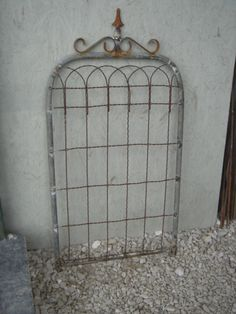 "36"" Wrought Iron Decorative Gate - Garden Trellis - Old Country Wire Garden Gates or Trellises"