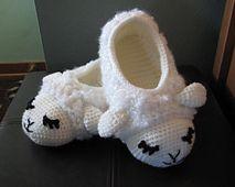 Ravelry: Sheepy Slippers pattern by Brenda K. B. Anderson