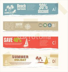 Set of summer vacation banners