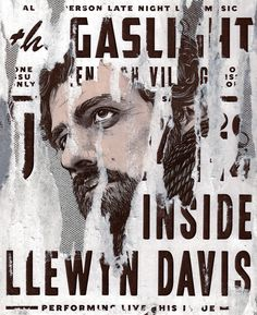Cover portrait of Oscar Issac for Little White Lies magazine's 'Inside Llewyn Davis' issue