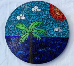 Palm Beach lazy susan by Glenys Fentiman