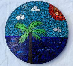 Palm Beach lazy susan by Glenys Fentiman