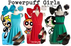 Outfits inspired by the Powerpuff Girls! -- Non-Disney
