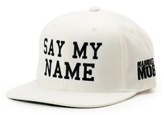 Married To The Mob Say My Name White Snapback Hat at Zumiez : PDP