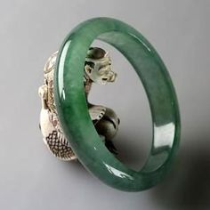 Imperial Jade, Jade Jewelry, Gems And Minerals, Jade Green, Rings For Men, Bangles, Carving, Band, Stone