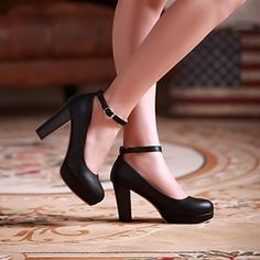 Women's Chunky Heel Round Toe Pumps/Heel  Shoes (More Colors) - USD $ 39.99