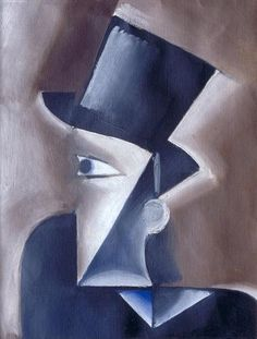Josef Capek - Man in a Hat, 1914, oil on canvas