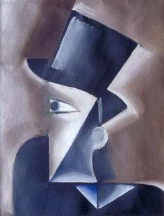 Josef Capek - Muz v klobouku / Man in a Hat, 1914, oil on canvas