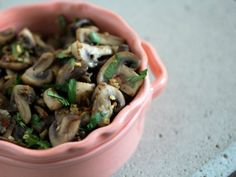 Quickly stir-fried in coconut oil with some garlic, lemongrass, and thinly sliced Thai chilies, and then finished with fish sauce, lime juice and cilantro, regular white button mushrooms become savory, spicy, and bright—ready to be washed down with a cold beer.