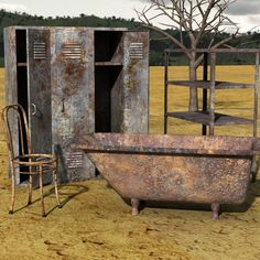 Rusty Junk | rusty junk set 2 for poser rusty junk for creating post apocalyptic ...