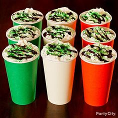 Dress your Irish Coffee in the colors of the Irish flag. Click the pic for more St. Patrick's Day drink ideas!