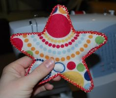 star plush toy for baby, stuff with batting or some jingle bells.