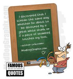Quote Shark versus weeds - www.MadDogGraphix.com