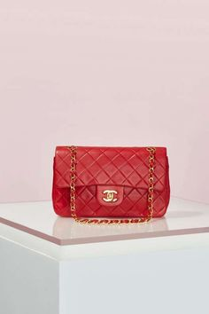 Vintage Chanel 2.55 Red Leather Bag - Vintage