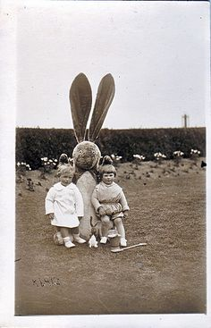 Easter Bunny, vintage photo, via Flickr