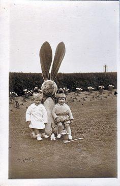 Easter Bunny, vintage photo, via Flickr