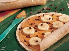 peanut butter  banana wraps - great breakfast to go- why didn't I think of that?