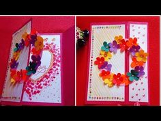 tutorial is about handmade card. I have created a very simple DIY card at home which can be used for occasions such as birthday, anniversary or anything thats special for you. Beautiful Birthday Cards, Simple Birthday Cards, Handmade Birthday Cards, Diy Birthday, Card Birthday, Handmade Greetings, Greeting Cards Handmade, Diy Crafts For Gifts, Paper Crafts
