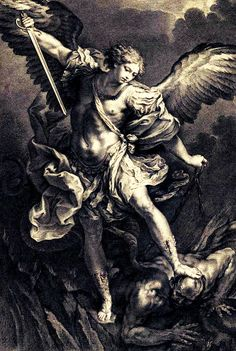 Michael the archangel Religious Tattoos, Religious Art, St Micheal Tattoo, Saint Michael Tattoo, Archangel Michael Tattoo, St. Michael, Angel Tattoo Designs, Biblical Art, Angels And Demons