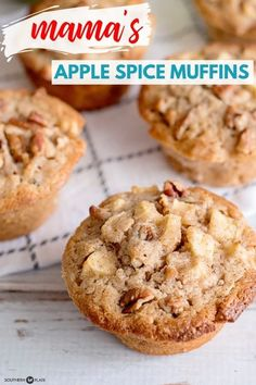 Selecting The Suitable Cheeses To Go Together With Your Oregon Wine Mama's Apple Spice Muffins - Southern Plate Best Apple Recipes, Apple Dessert Recipes, Easy Dinner Recipes, Breakfast Recipes, Fall Desserts, Potluck Desserts, Breakfast Bites, Pumpkin Recipes, Delicious Desserts