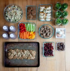 "food prep for the whole week! need to get back on track with this...her menu is kind of ""crunchy"" but i like the idea"