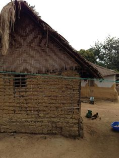 A close look at one of the homes in Malema. — in Malema, Liberia.  #sahbusearch
