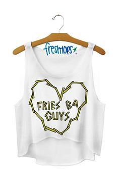 fries b4 guys crop top