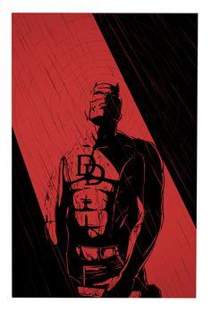 Daredevil by Estevan Silveira Hq Marvel, Marvel Comics Art, Marvel Heroes, Marvel Characters, Captain Marvel, Marvel Cinematic, Daredevil Artwork, Daredevil Punisher, Marvel Universe