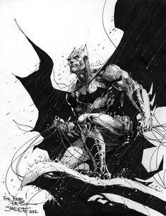 Batman. Jim Lee continues to impress! #comicart