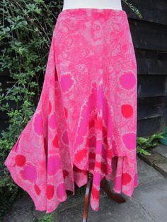 Sponge Dye Skirt - Pink - 14/16