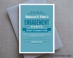 Engagement Party Invitation, Engagement invitations, Party Invitation, Custom, Party Invite, Printable, Made to Order