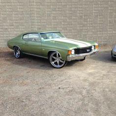Chevy Chevelle  #BecauseSS 24 Clean MUSCLECAR old school green 6 spoke. asanti wheels