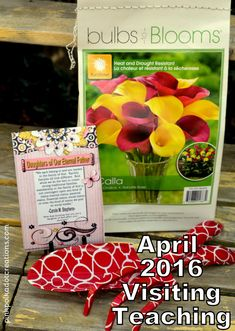 April 2016 Visiting Teaching Handout - Pink Polka Dot Creations