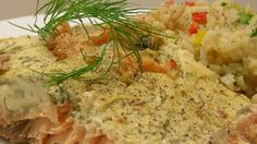 A family recipe for how Alaskans make a delicious salmon dish, it combines mayonnaise and mustard with thyme, oregano, basil, and dill weed.