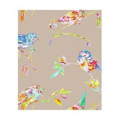 Rideau lin Oiseau Perse Thevenon
