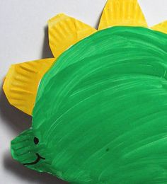 Paper plate stegosaurus #craft